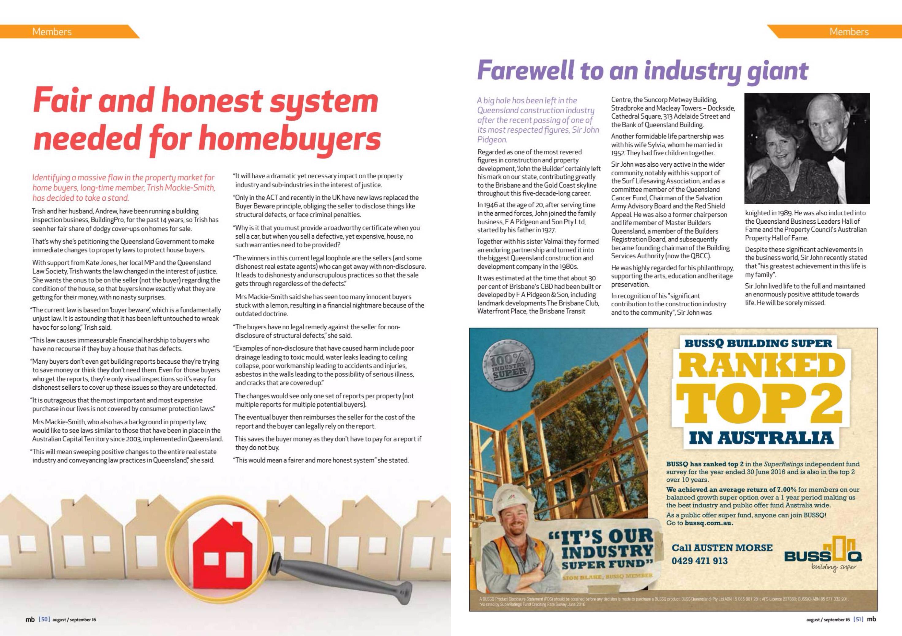 Master Builders Magazine